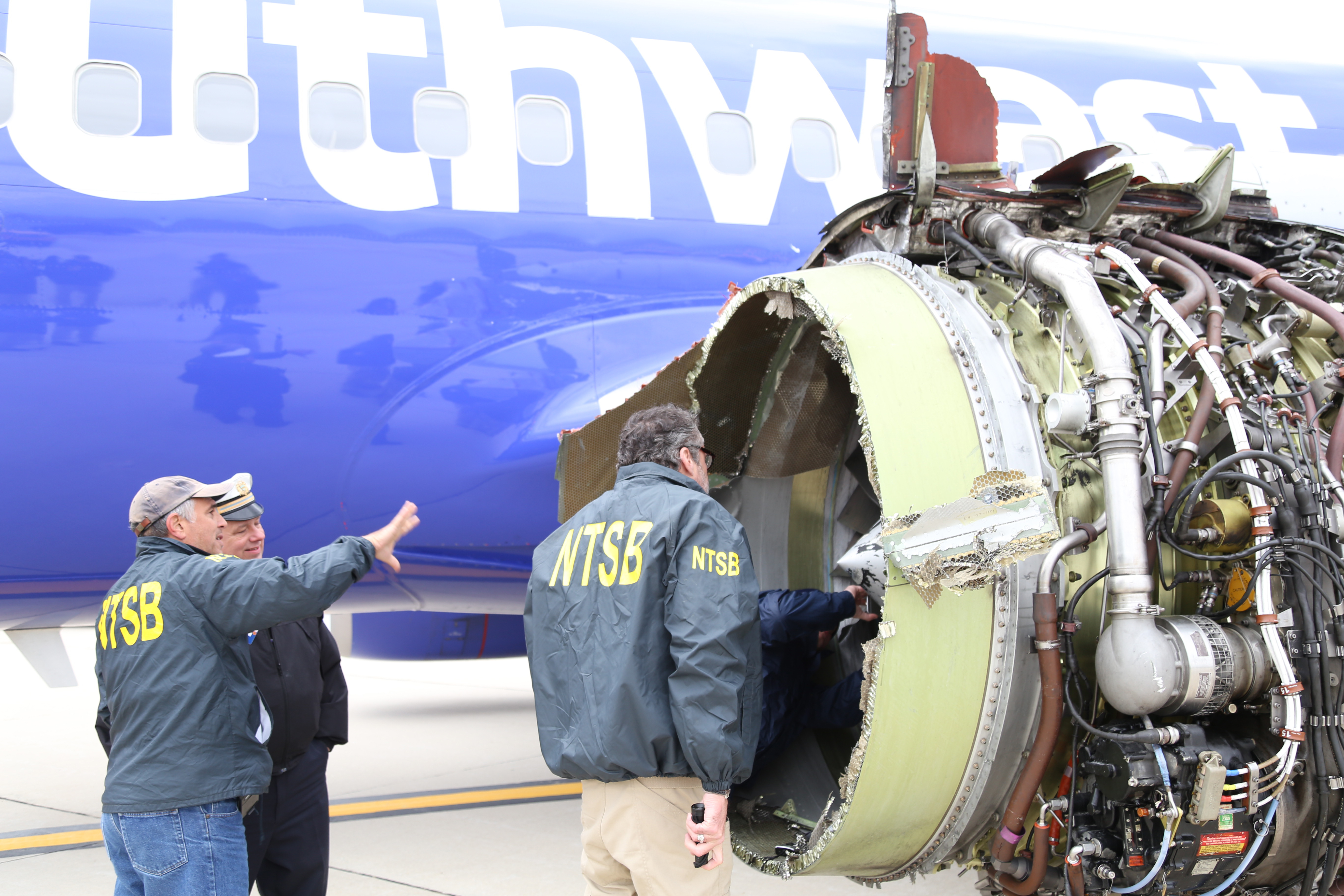 NTSB examining engine structure's collateral damage on