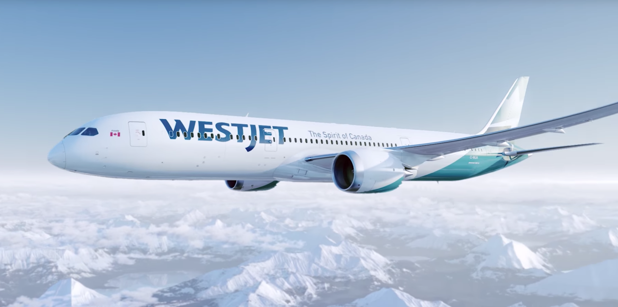 Westjet's new 787 Dreamliner sprints away from its